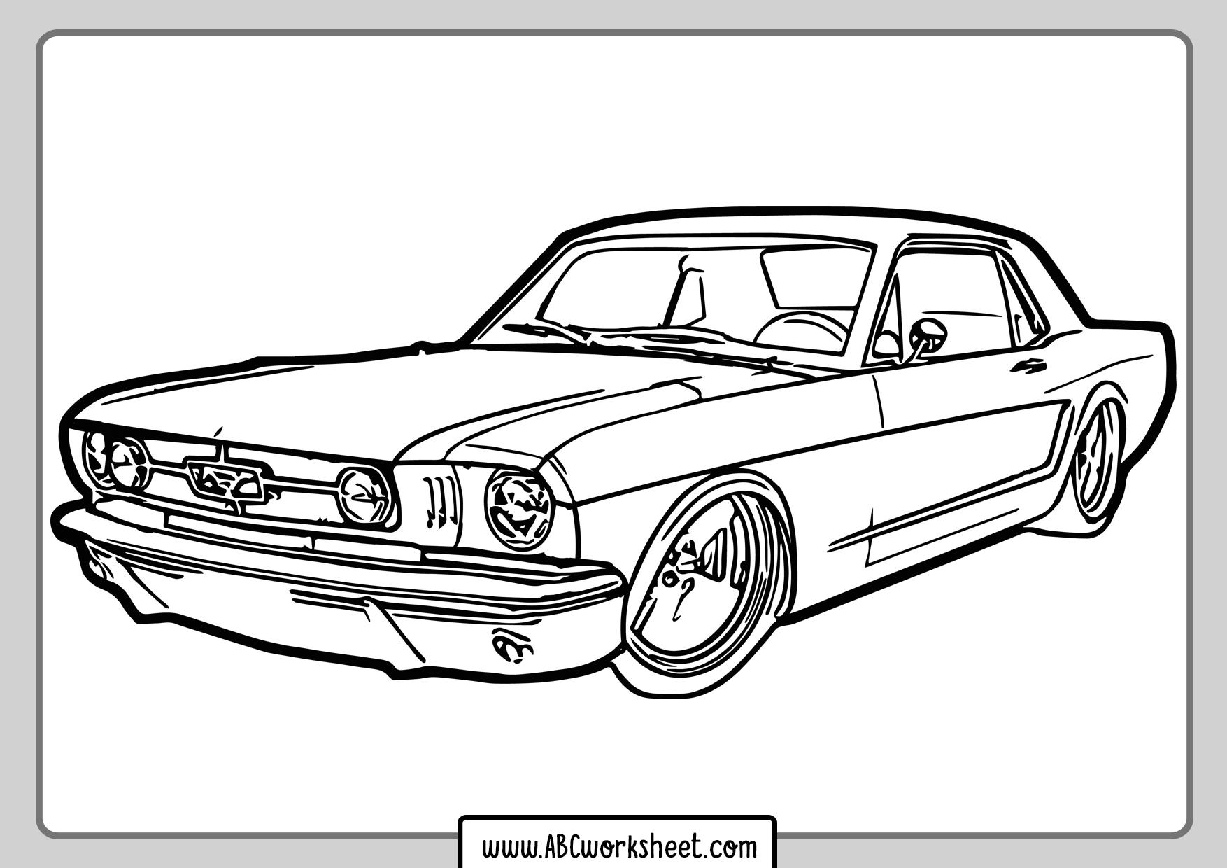 Printable Racing Car Coloring Page