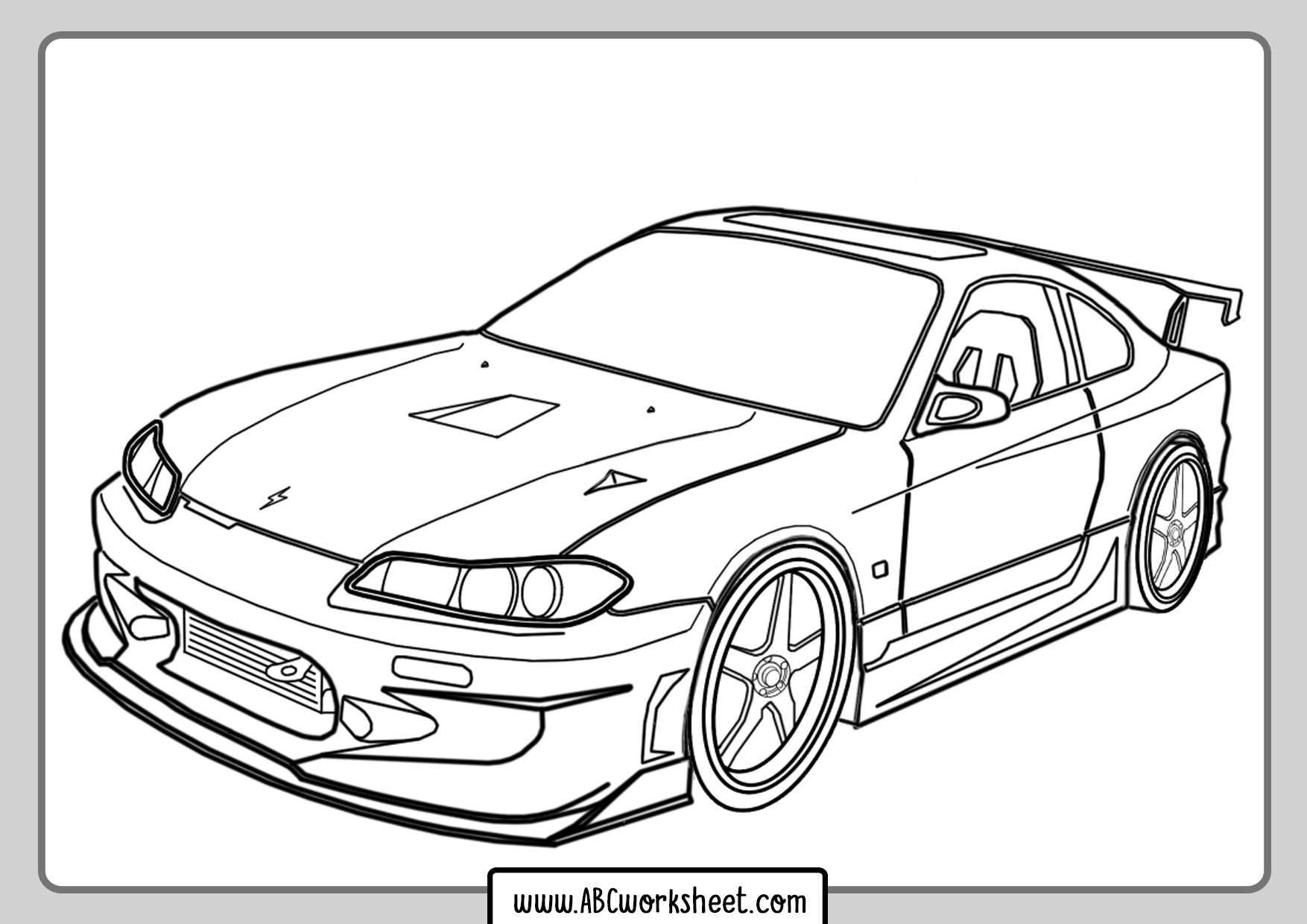 Racing Car Coloring Pages For Kids