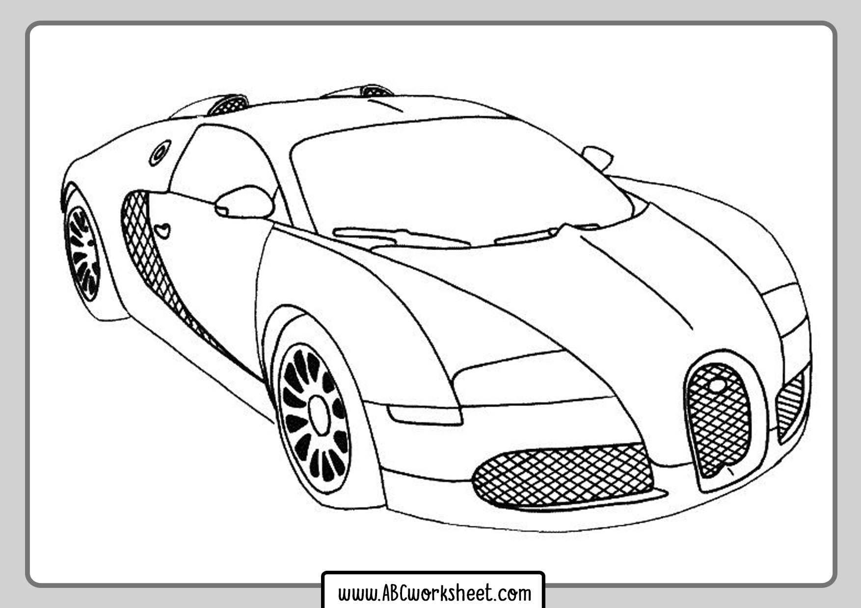 Racing Car To Coloring