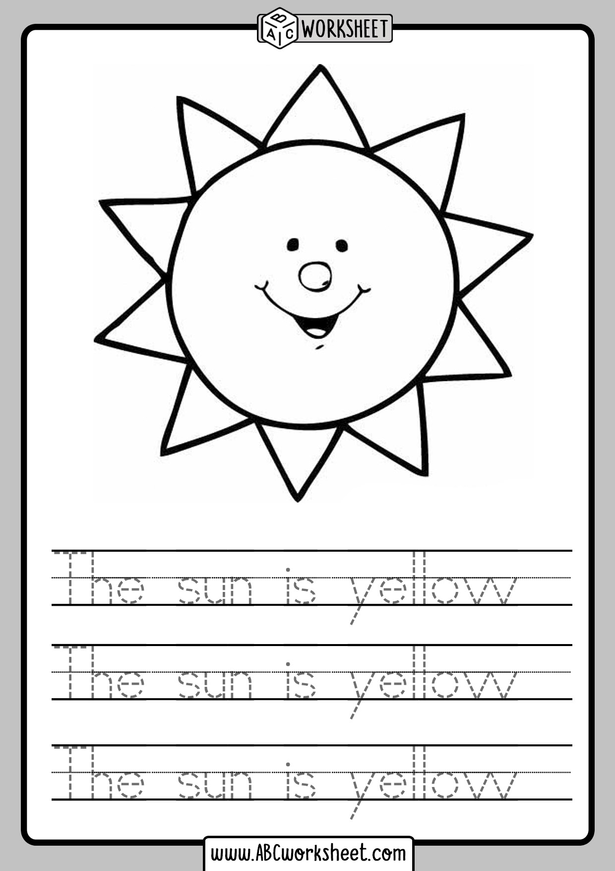 Read And Trace Worksheets
