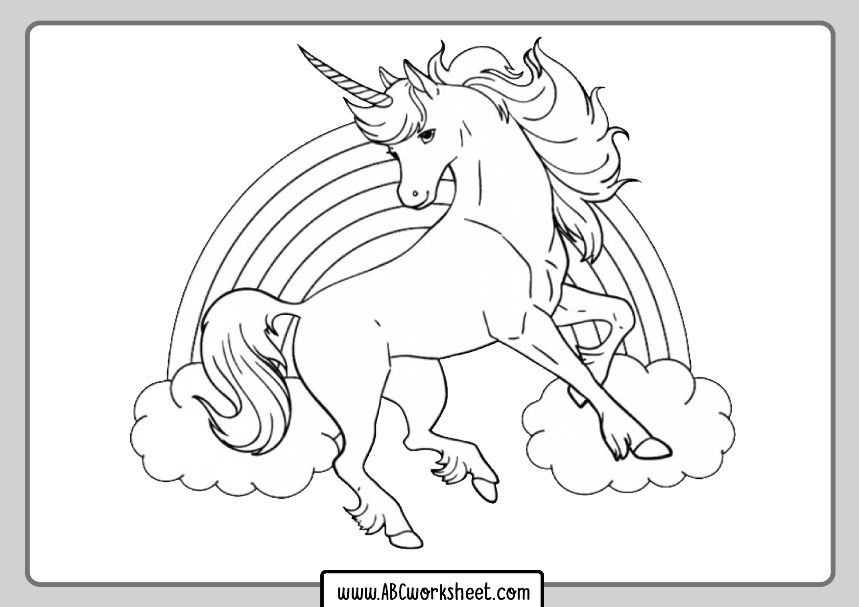 Unicorn Coloring Pictures