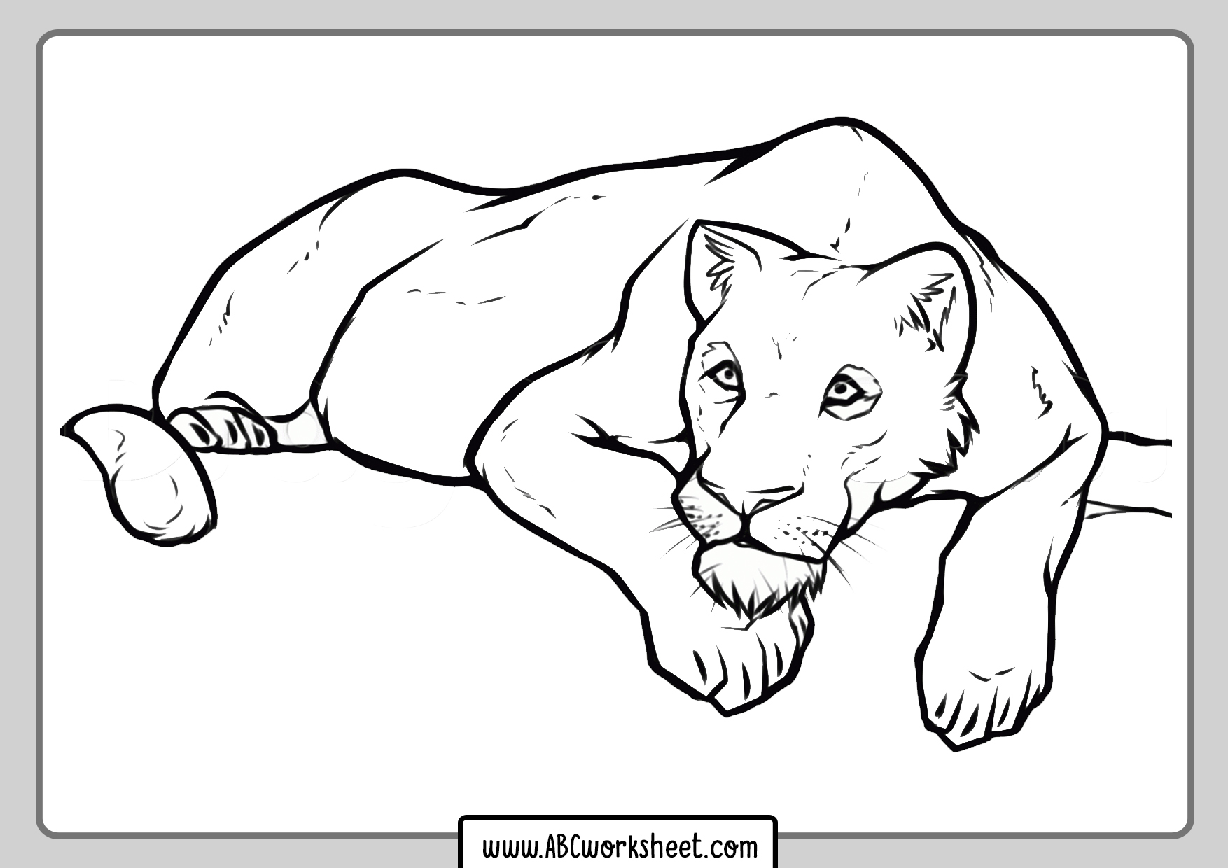 Wild Lioness Coloring Pages