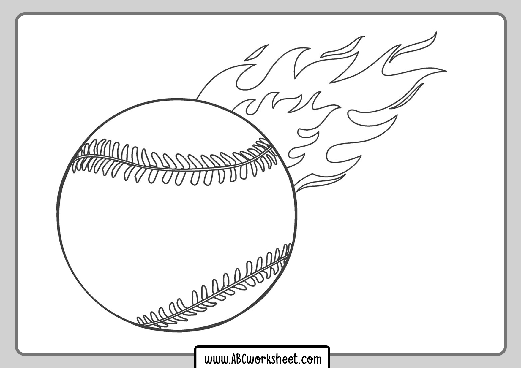 Baseball Ball Coloring Page