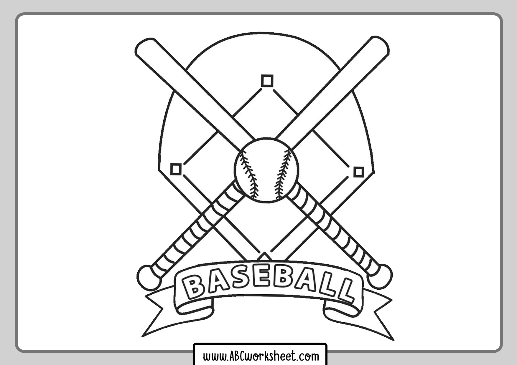 Baseball For Coloring