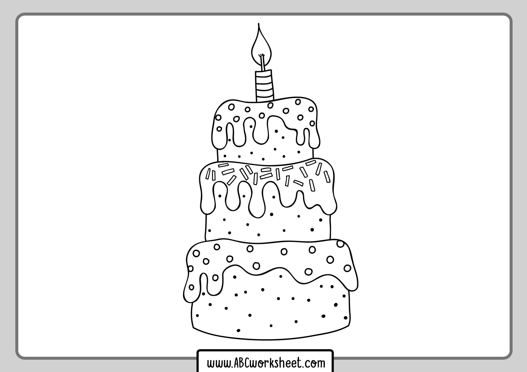 Birth Cake Coloring Pages