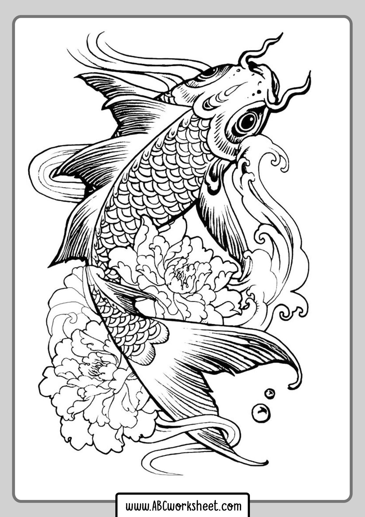 Carp Fish For Coloring