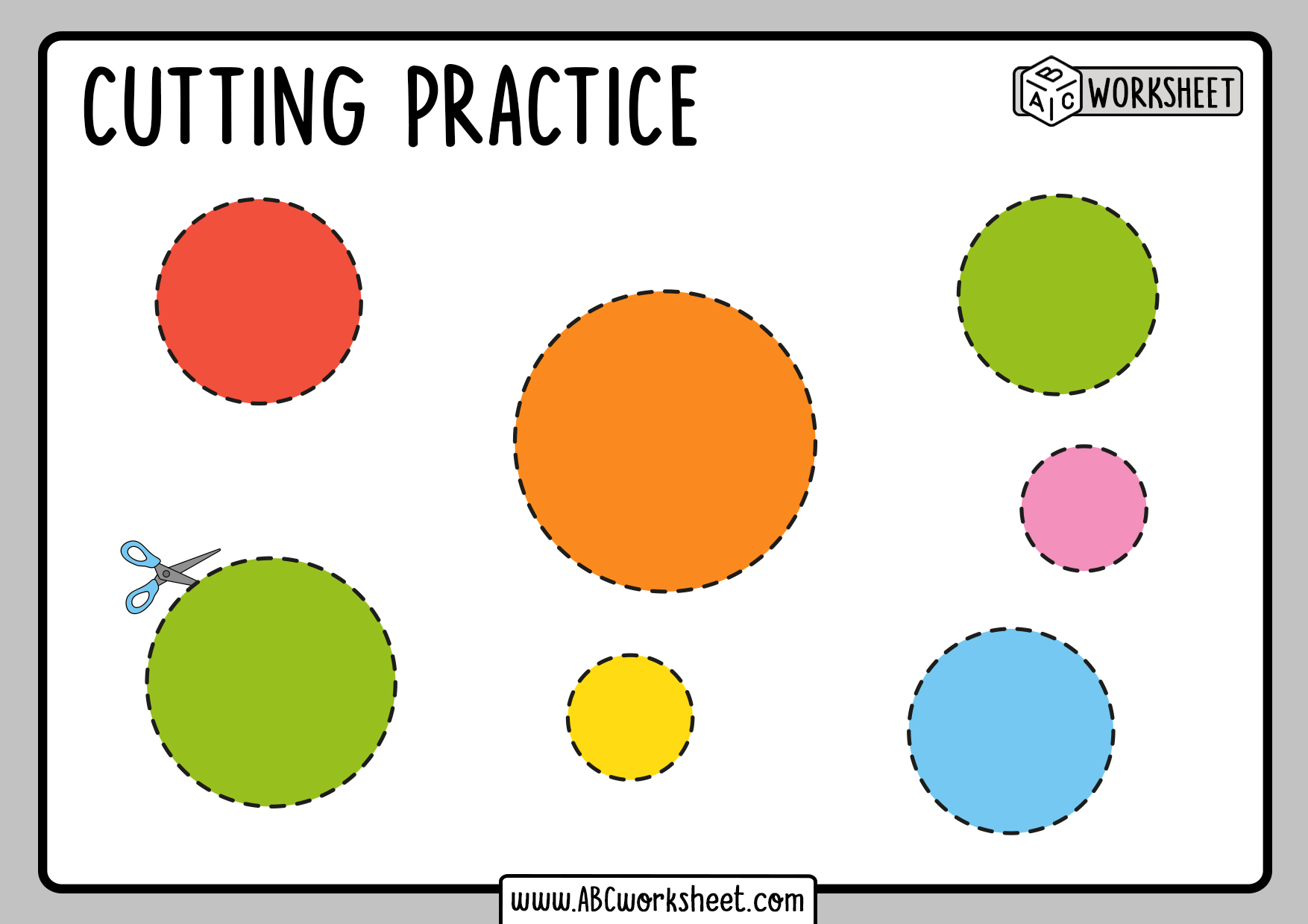 Cutting Shapes Activity To Print