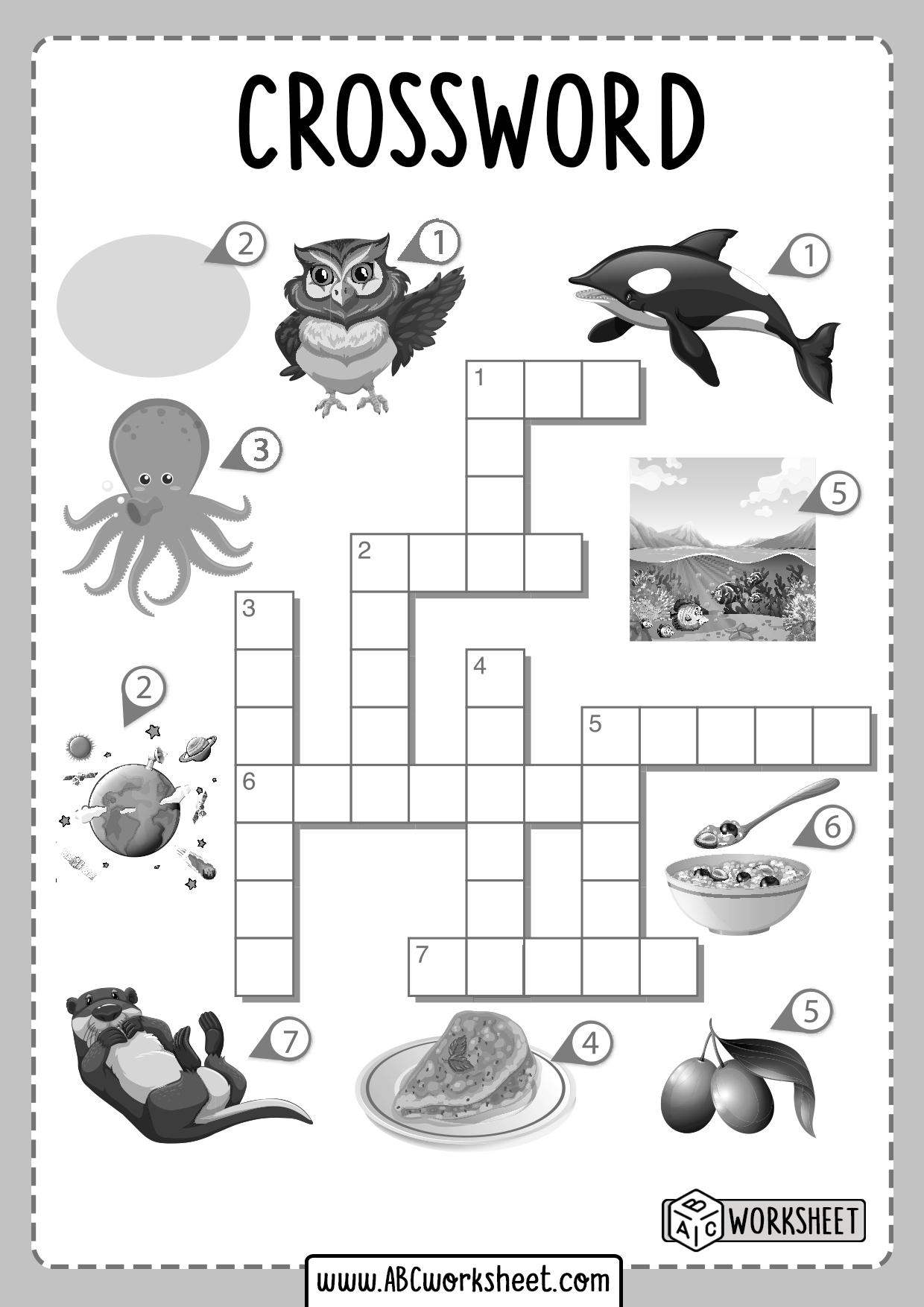 Esl Vocabulary Crossword