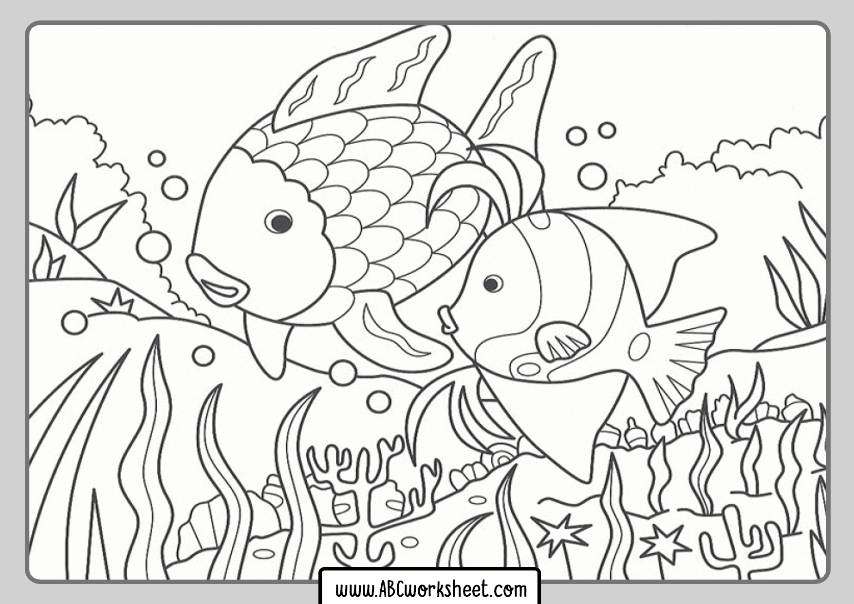 Fishing Fish Coloring Pages
