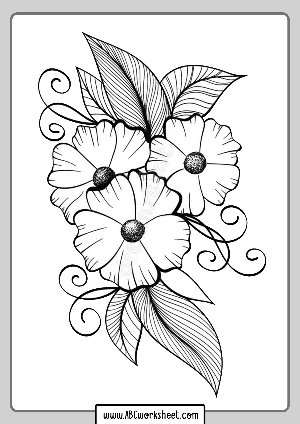 Flowers For Coloring