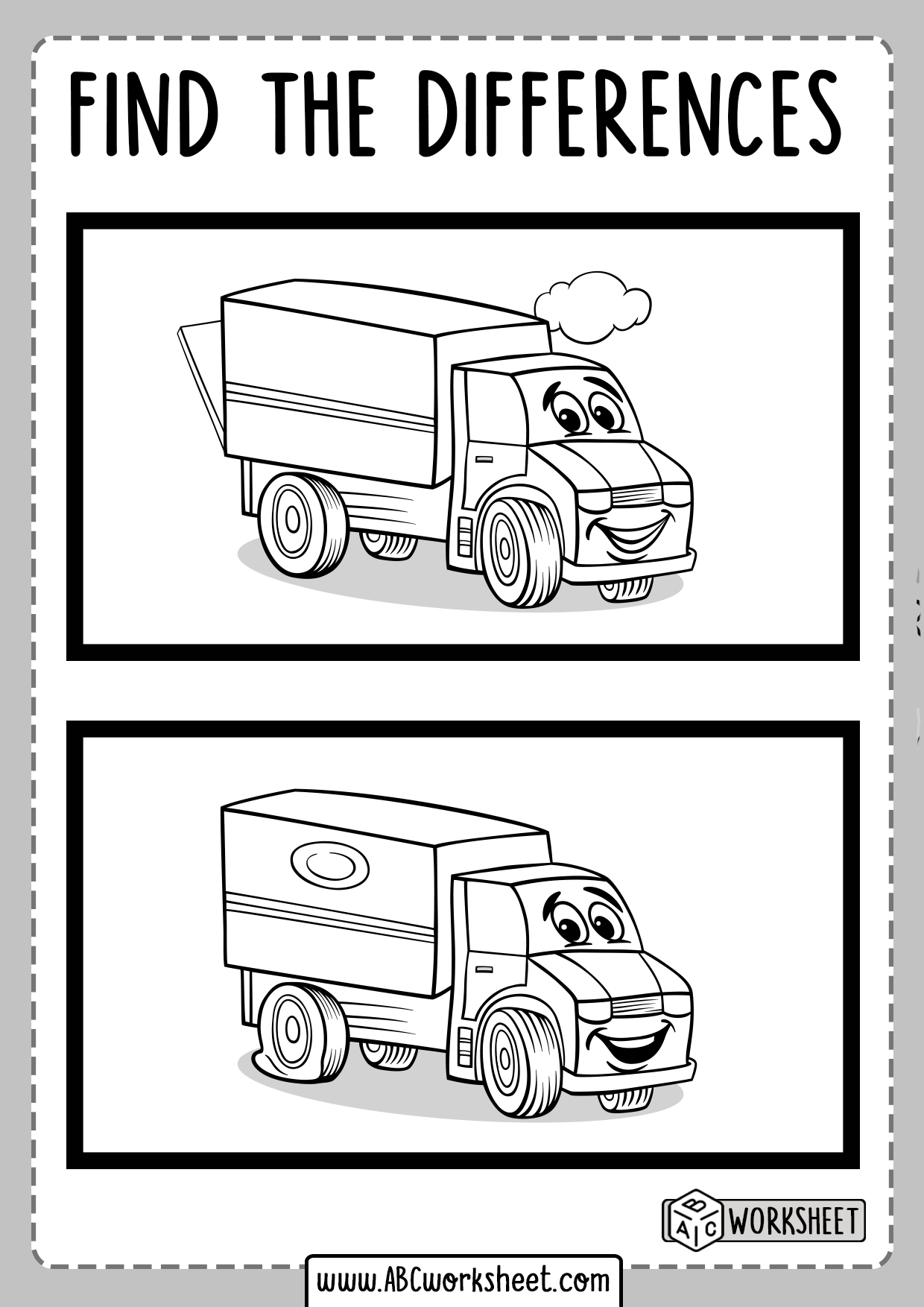 Free Printable Spot The Differences Worksheet