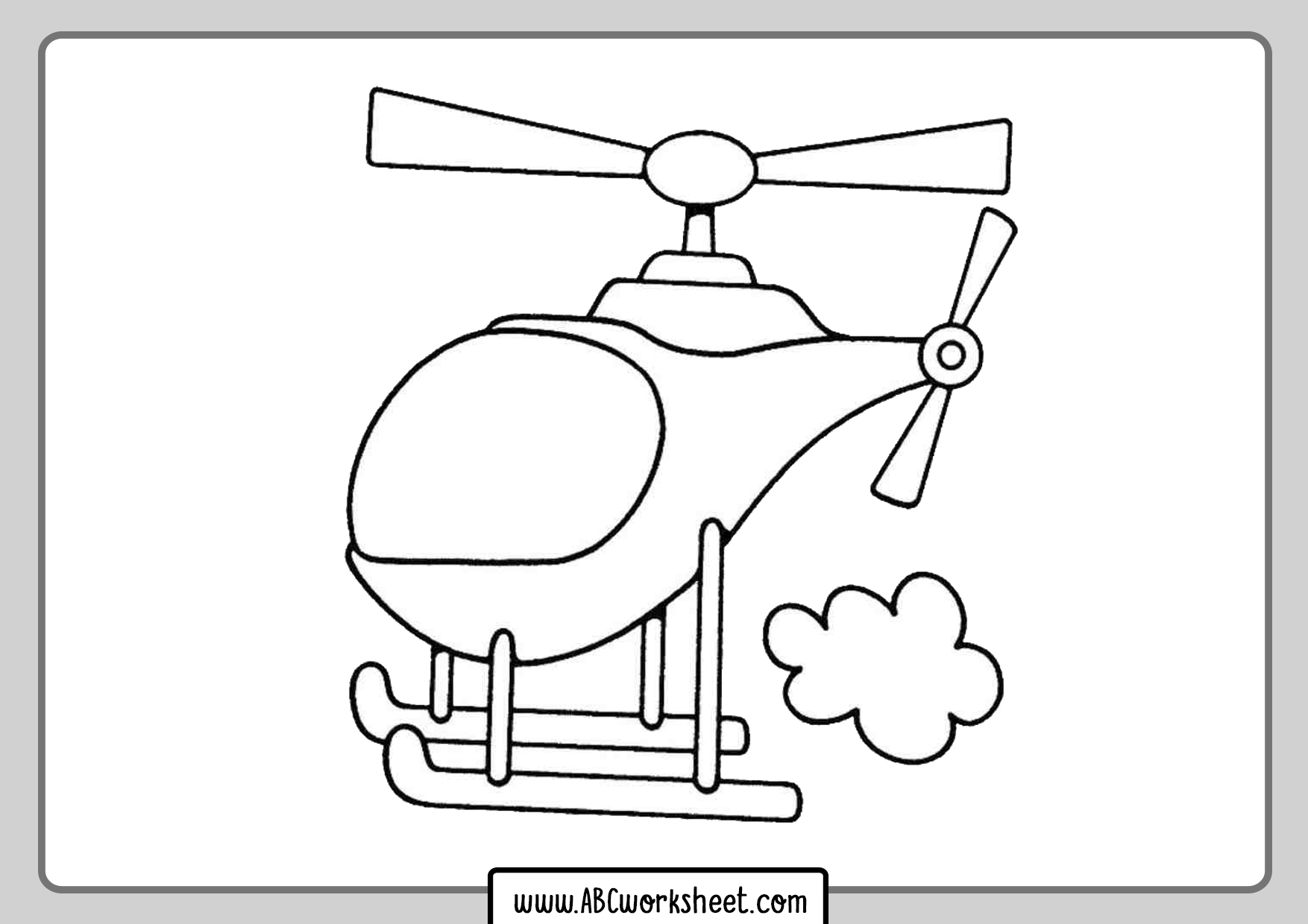 Helicopter Coloring Pages For Toddlers