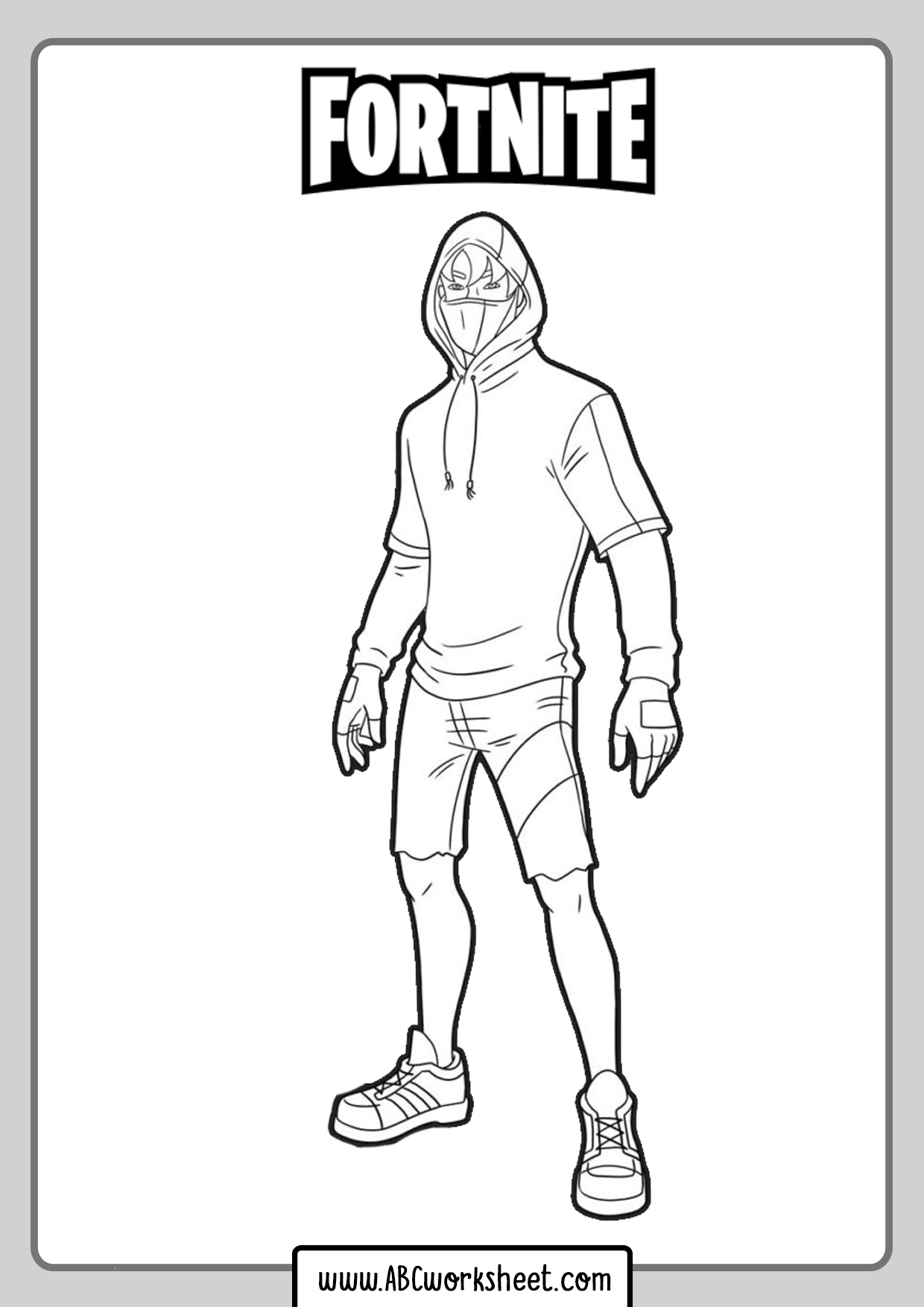Human Skin Fortnite Coloring Pages