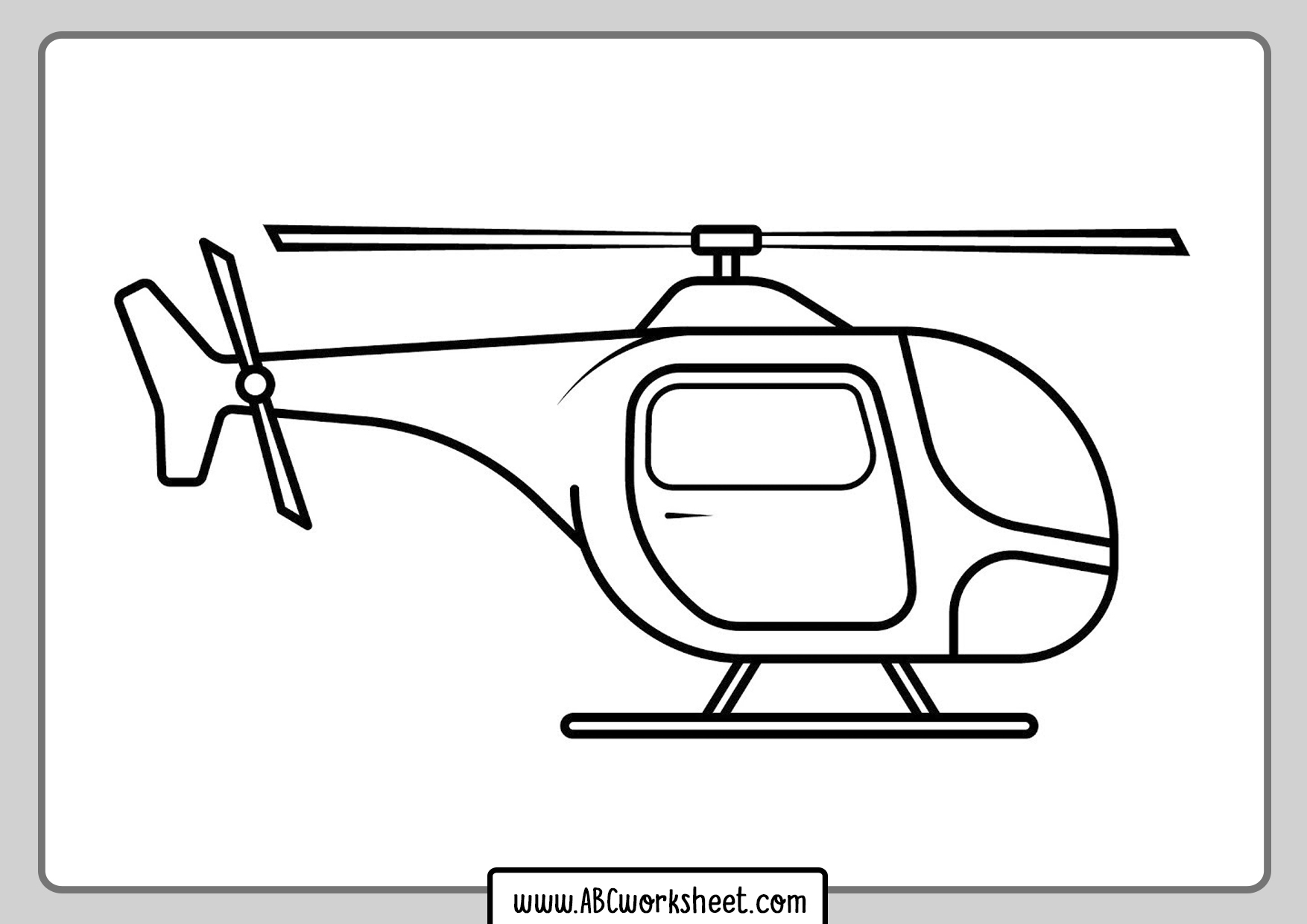 Kids Helicopter Coloring Pages