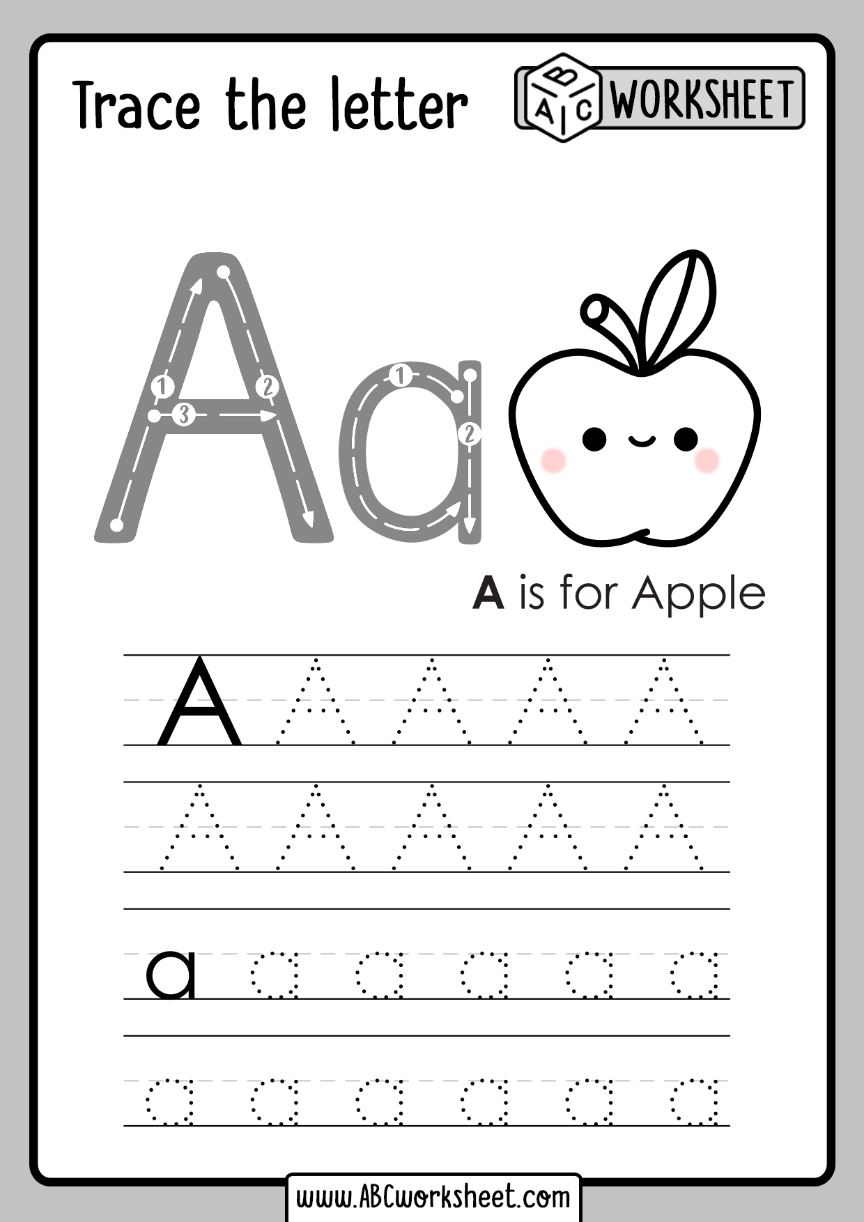 Alphabet Letters Tracing Worksheets