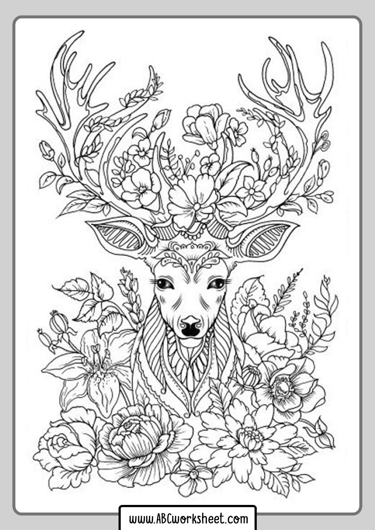 Mandala Deer Coloring Pages