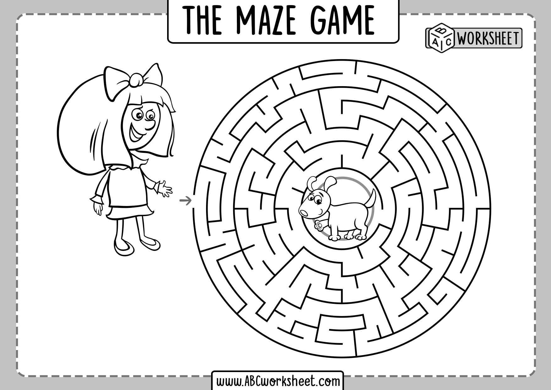 Maze Games Worksheets