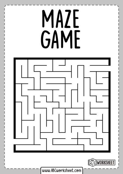 small resolution of Maze Worksheet With Trophy   Printable Worksheets and Activities for  Teachers