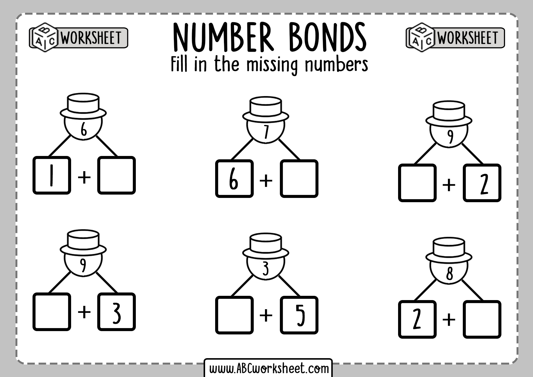 Number Bonds Exercises