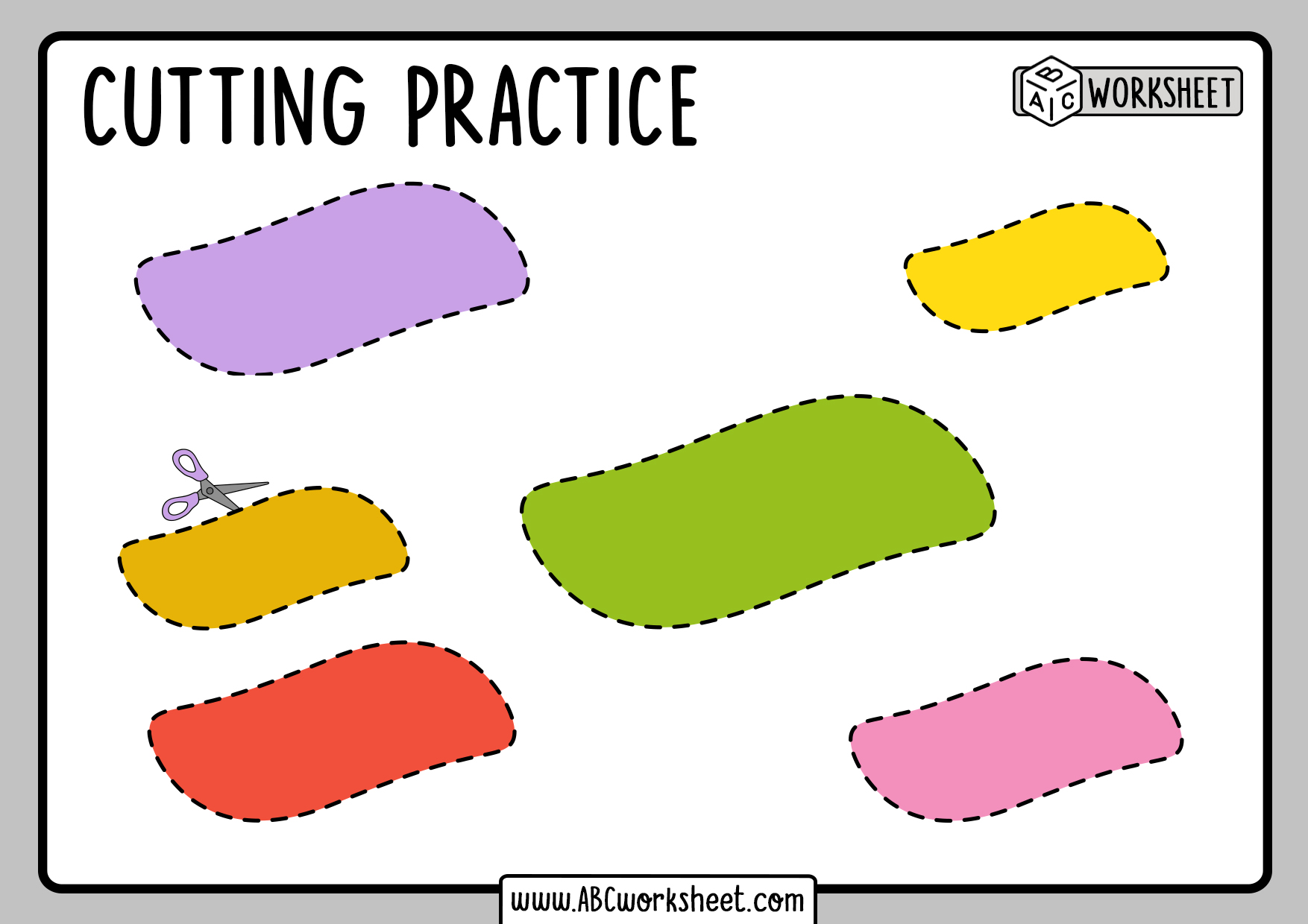 Printable Cutting Shapes Practice