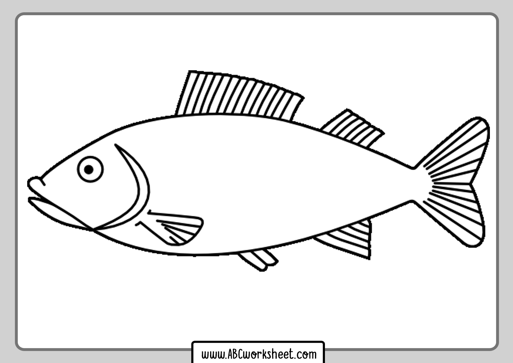 River Fish Coloring Pages