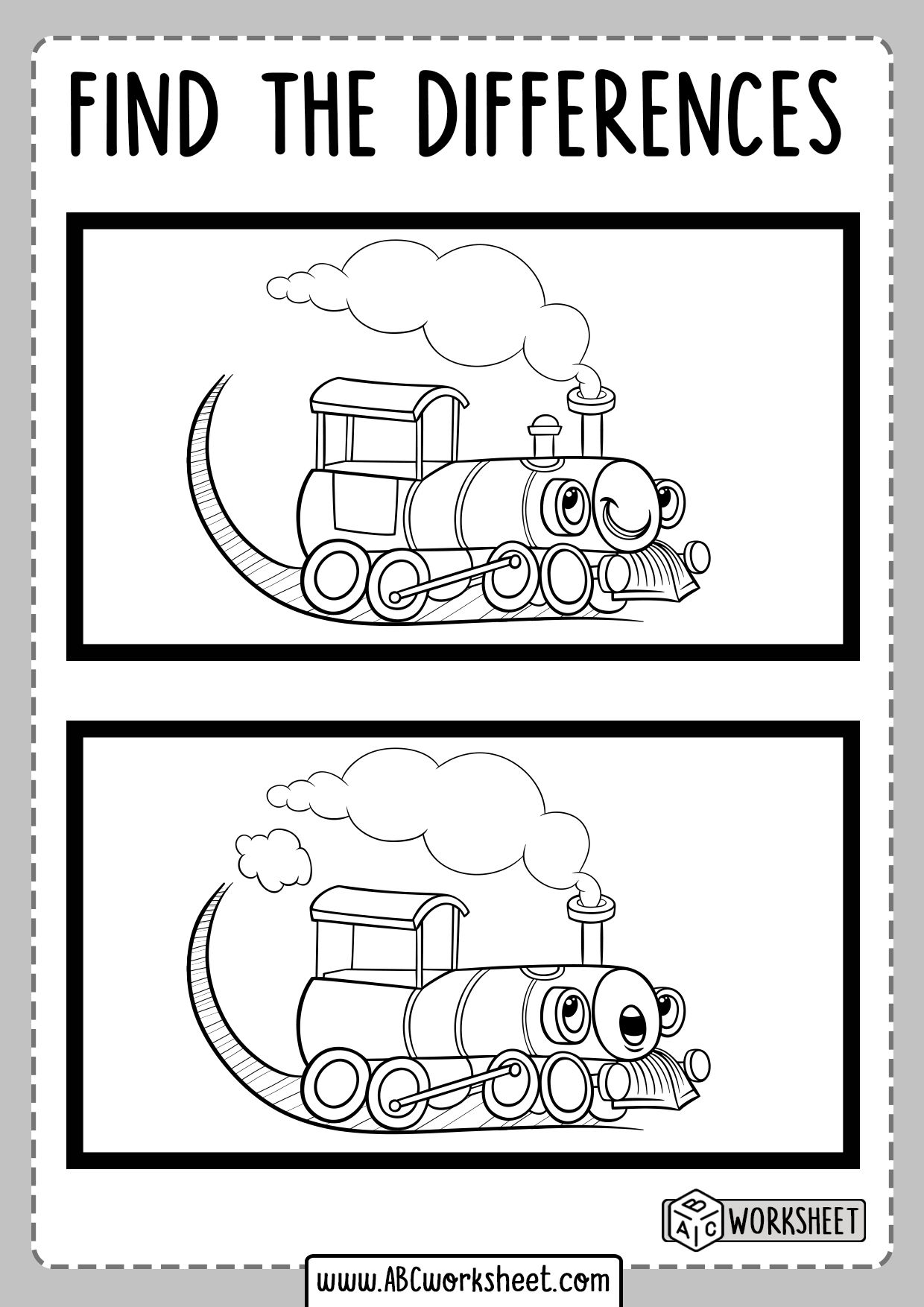 Spot Differences Worksheet