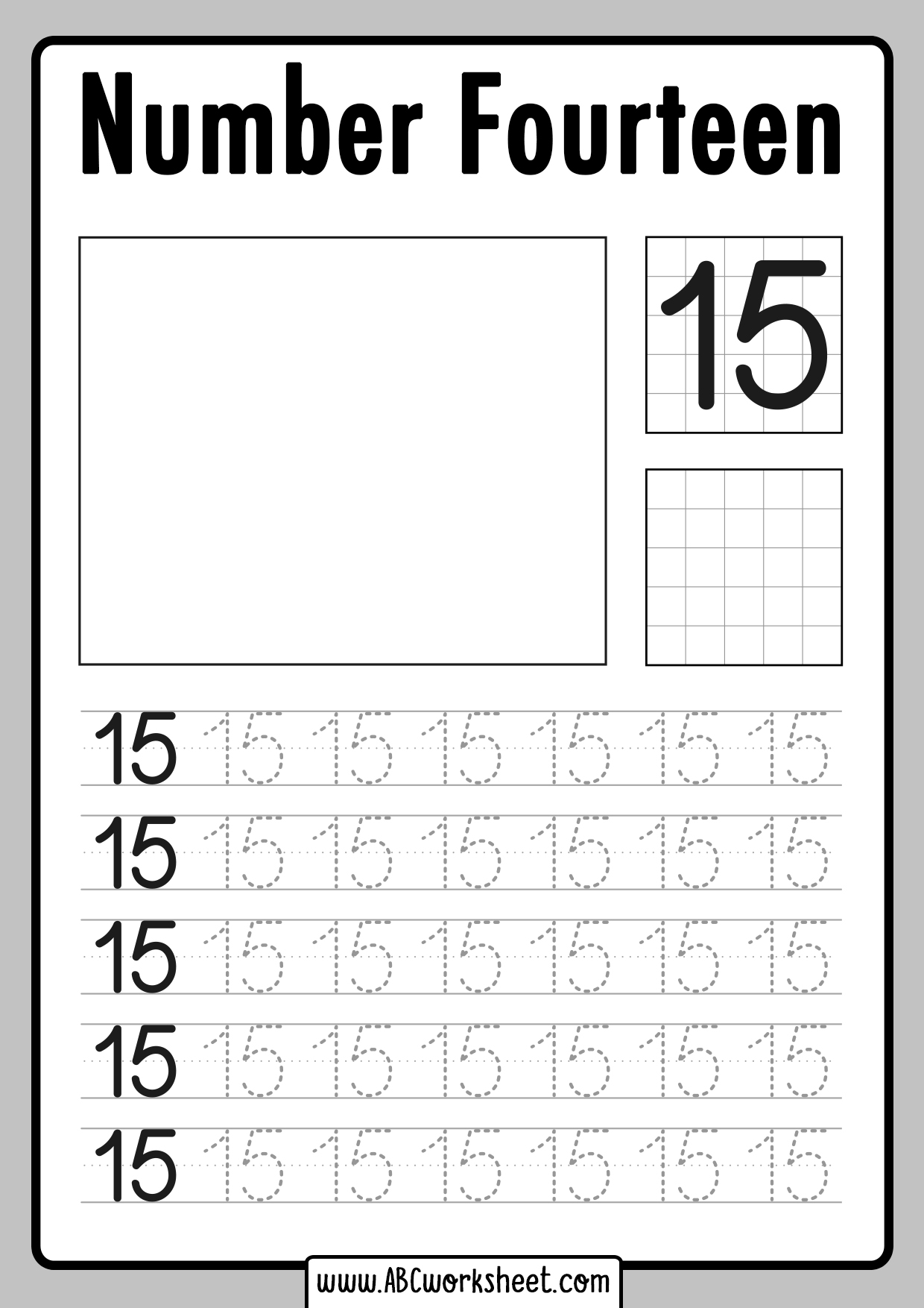 Number Tracing worksheets