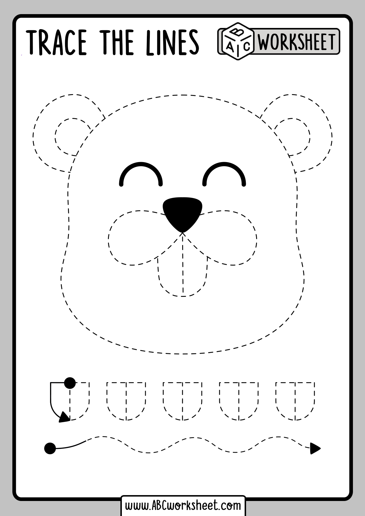 Tracing Worksheets For Toddlers