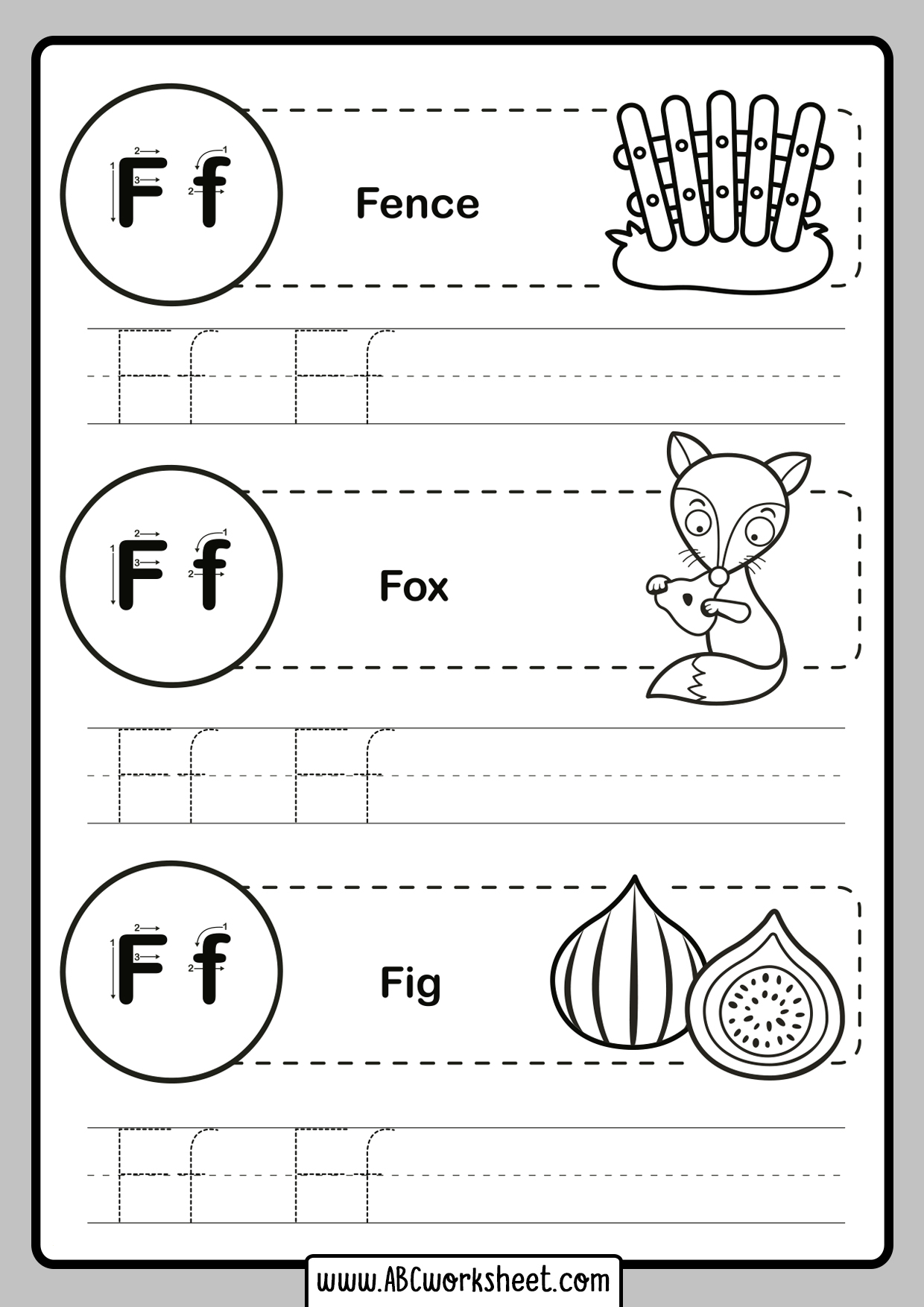 Uppercase And Lowercase Letter Tracing
