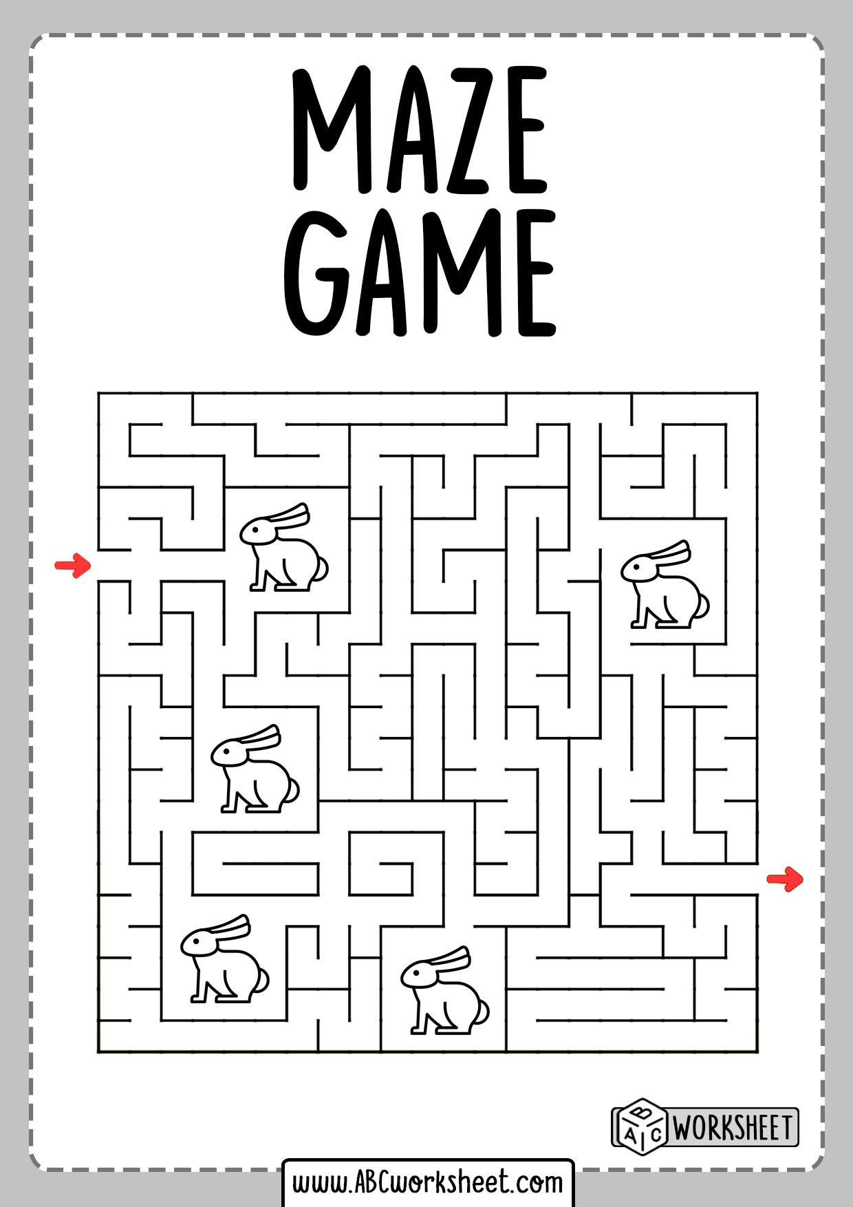 Worksheet Maze