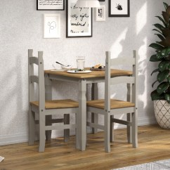 2 Chair Kitchen Table Set Wood Stoves For Sale Abdabs Furniture Corona Grey Washed Square Dining Chairs Zoom