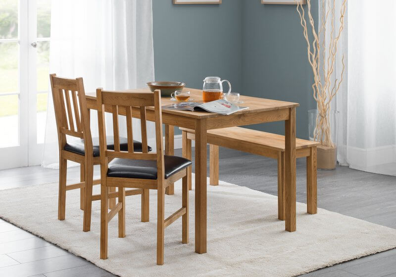 oak kitchen table sets hand soap abdabs furniture coxmoor dining bench set zoom