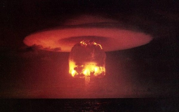 An Israel National News opinion piece calls for the nuclear destruction of Iran and Germany. (Photo credit: public domain)
