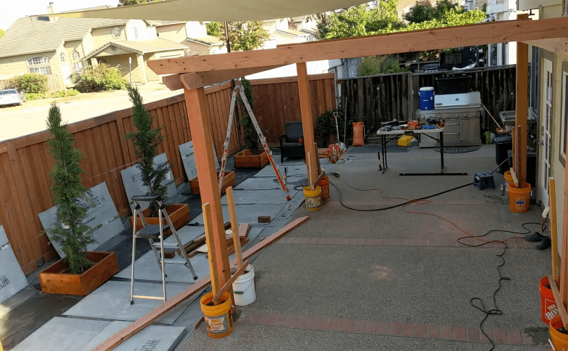 How to Install 4 Posts Square and Plumb (e.g. for a pergola)