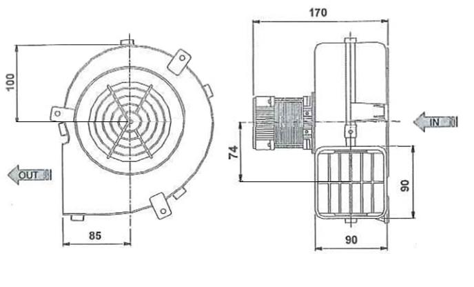 Sucking centrifugal fan