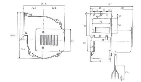 Single-phase 2 poles centrifugal fan