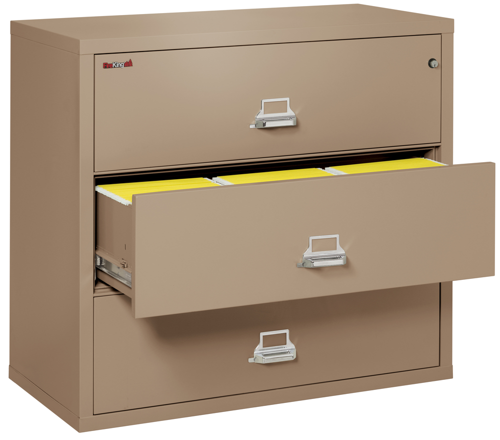 Fireproof Fireking 3 Drawer Lateral 44 Wide File Cabinet