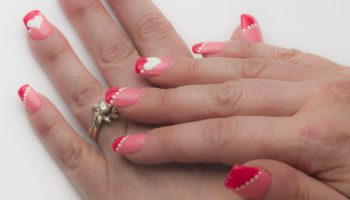 Strawberry nail design a beautiful whim coral and pink color block nails prinsesfo Images