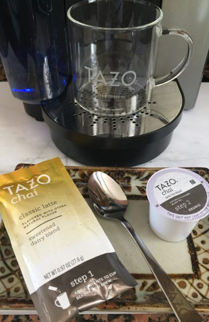 How to brew TAZO chai latte K Cup pods