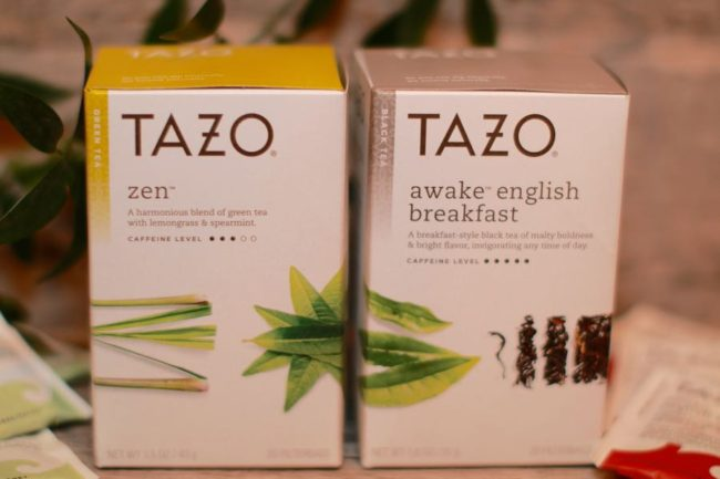 ZEN TAZO Tea and English Breakfast TAZO Tea