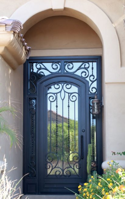 Iron-Glass-Entry-Door