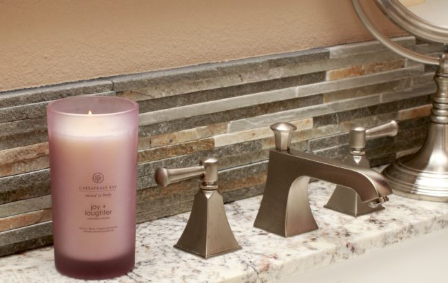 Decorating bathrooms with candles