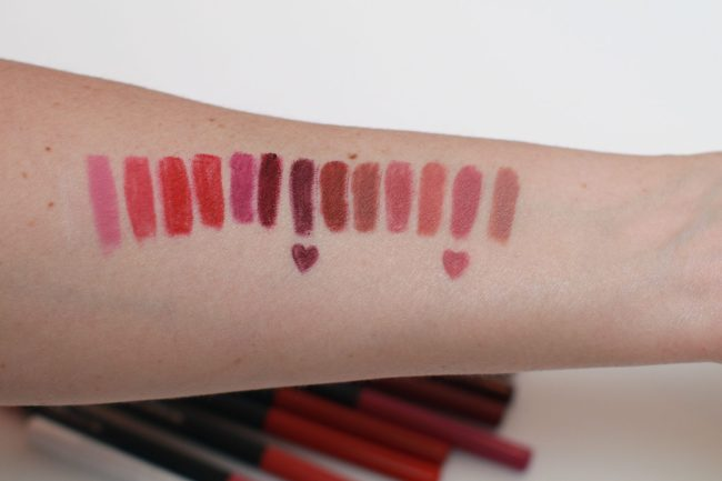 Maybelline Color Sensational Shaping Lip Liner Swatches