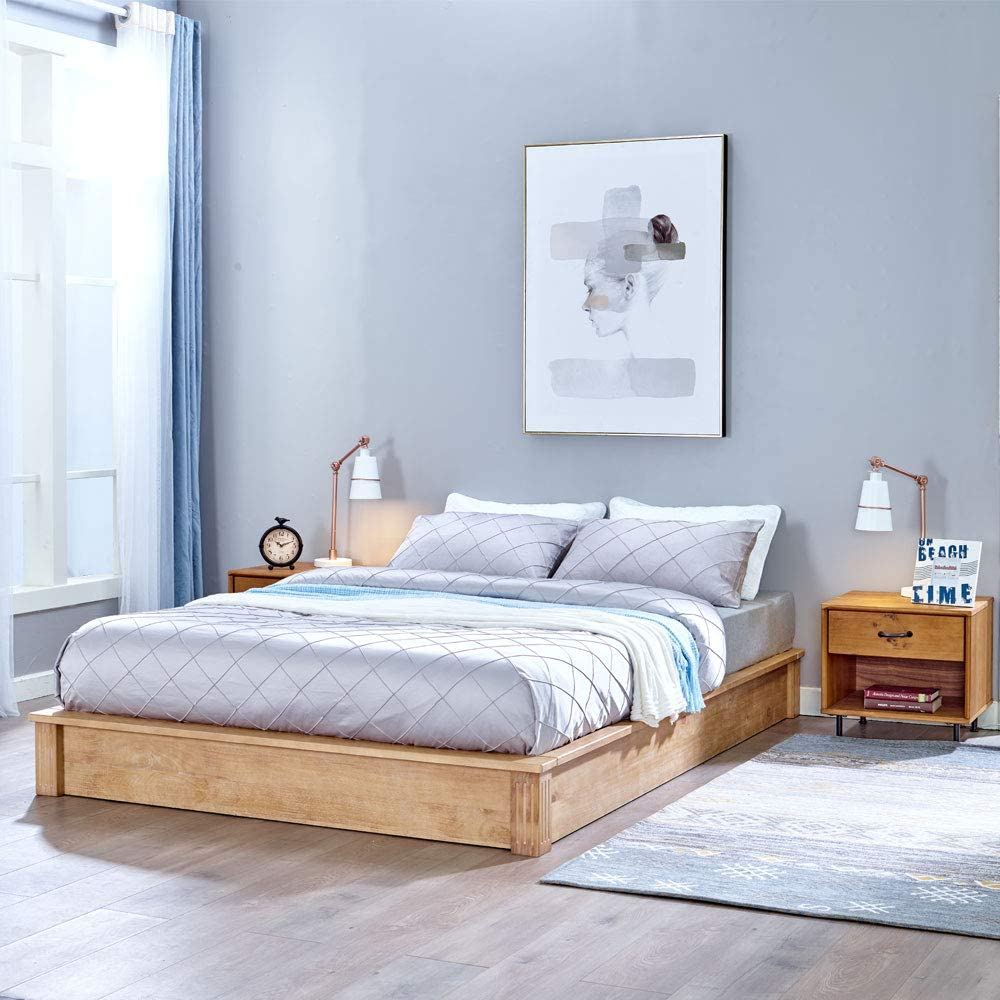 rustic-low-profile-platform-bed
