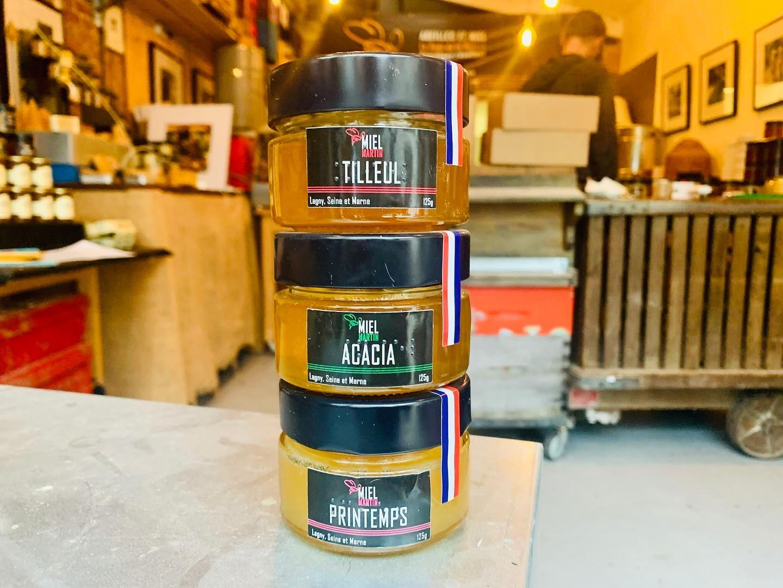 photo ensemble 3 pots de miels