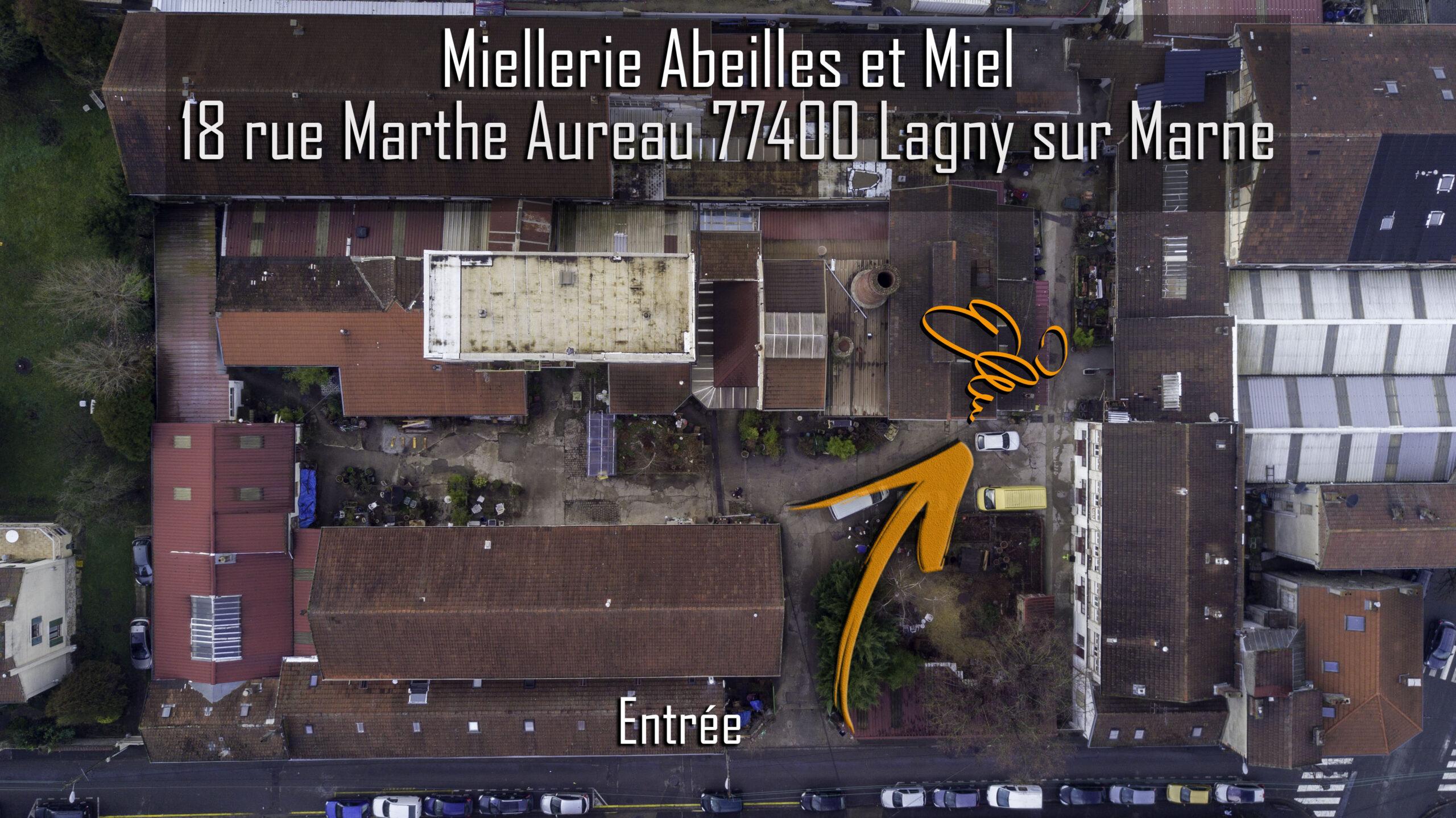 plan accès miellerie de Lagny sur Marne