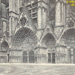 Cathedral Architecture Gothic Arches Diagram Mlk And Malcolm X Venn Church Construction France Zone At Abelard Org The Five Arch Portal West Facade Of Bourges
