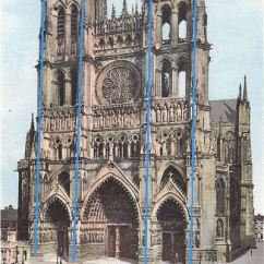 Cathedral Architecture Gothic Arches Diagram Ge Clothes Dryer Wiring And Church Construction France Zone At Abelard Org Amiens West Facade Showing Buttresses