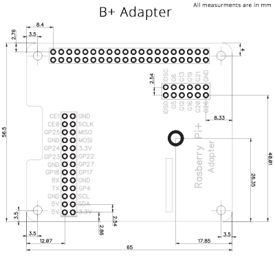 Raspberry Pi Adapter Kit to connect to a Raspberry Pi