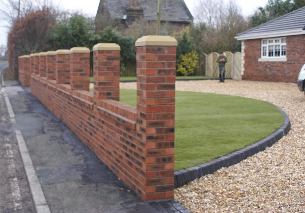 Reclaimed Brick Garden Walls